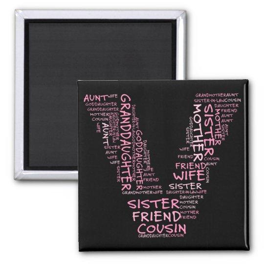 Supporting Loved Ones (Letter V - Part of Set) Magnet