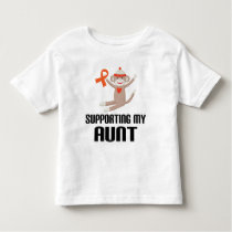 Supporting My Aunt Orange Awareness Ribbon Toddler T-shirt
