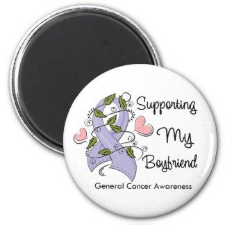 Supporting My Boyfriend - Cancer Awareness 2 Inch Round Magnet