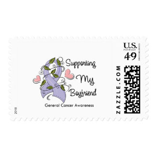 Supporting My Boyfriend - Cancer Awareness Postage