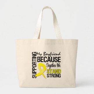 Supporting My Boyfriend We Stand Strong - Military Tote Bags