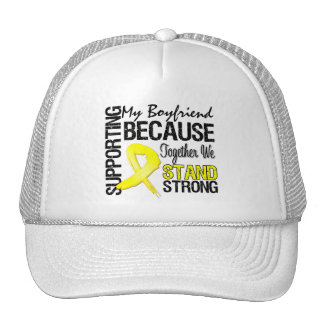 Supporting My Boyfriend We Stand Strong - Military Trucker Hat