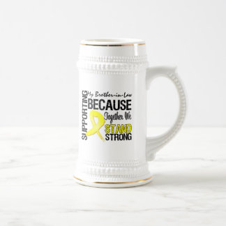 Supporting My Brother-in-Law We Stand Strong - Mil Beer Stein