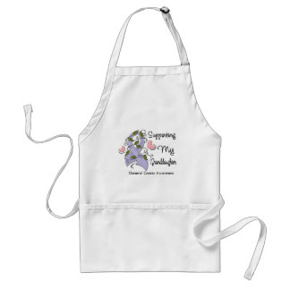 Supporting My Granddaughter - Cancer Awareness Adult Apron