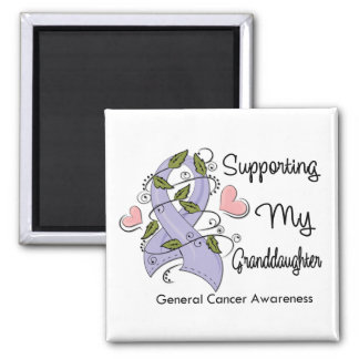 Supporting My Granddaughter - Cancer Awareness 2 Inch Square Magnet