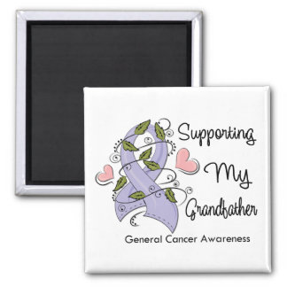 Supporting My Grandfather - Cancer Awareness 2 Inch Square Magnet