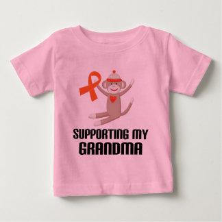 Supporting My Grandma Orange Awareness Ribbon Baby T-Shirt