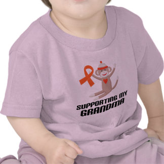 Supporting My Grandma Orange Awareness Ribbon Shirt