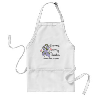 Supporting My Grandson - Cancer Awareness Adult Apron