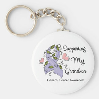 Supporting My Grandson - Cancer Awareness Keychain