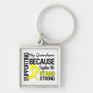 Supporting My Grandson We Stand Strong - Military Key Chain
