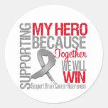 Supporting My Hero - Brain Cancer Awareness Sticker