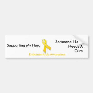 Supporting My Hero Endo Bumper Sticker