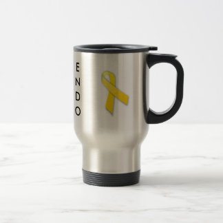 Supporting My Hero Endometriosis Awareness 15 Oz Stainless Steel Travel Mug