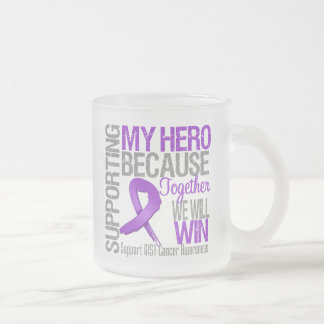 Supporting My Hero - GIST Cancer Awareness 10 Oz Frosted Glass Coffee Mug
