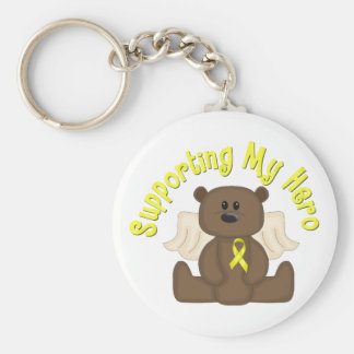 Supporting My Hero Basic Round Button Keychain