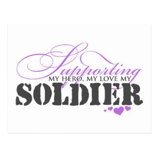 Supporting My Hero, My Love Postcard