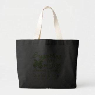 Supporting My Hero - Non-Hodgkins Lymphoma Jumbo Tote Bag