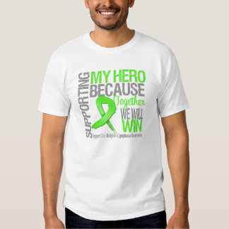 Supporting My Hero - Non-Hodgkins Lymphoma Tee Shirt