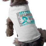 Supporting My Hero - Ovarian Cancer Awareness Pet Tee