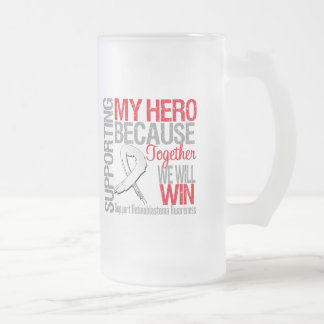 Supporting My Hero - Retinoblastoma Awareness 16 Oz Frosted Glass Beer Mug