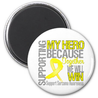 Supporting My Hero - Sarcoma Awareness 2 Inch Round Magnet
