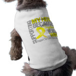 Supporting My Hero - Sarcoma Awareness Dog Clothing