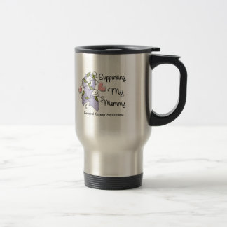 Supporting My Mommy - Cancer Awareness 15 Oz Stainless Steel Travel Mug