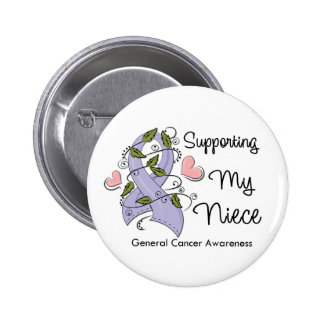 Supporting My Niece - Cancer Awareness 2 Inch Round Button