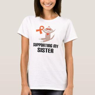 Supporting My Sister Orange Awareness Ribbon T-Shirt