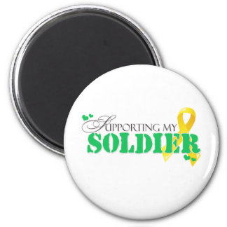 Supporting My Soldier 2 Inch Round Magnet