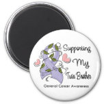 Supporting My Twin Brother - Cancer Awareness Refrigerator Magnet