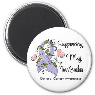 Supporting My Twin Brother - Cancer Awareness 2 Inch Round Magnet