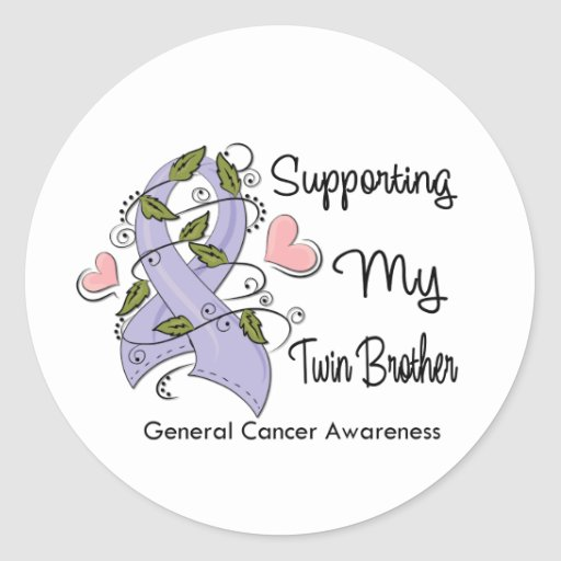 Supporting My Twin Brother - Cancer Awareness Round Sticker