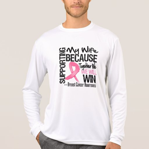 Supporting My Wife - Breast Cancer Awareness T-shirt