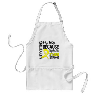 Supporting My Wife We Stand Strong - Military Adult Apron
