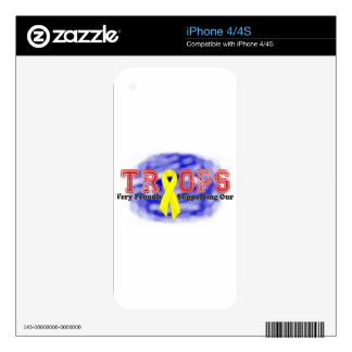 Supporting Our Troops Ribbon Skins For The iPhone 4