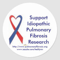 Supporting Pulmonary Fibrosis Sticker