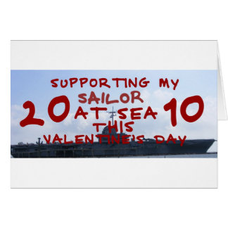 SUPPORTING SAILOR AT SEA VALENTINES DAY GREETING CARD