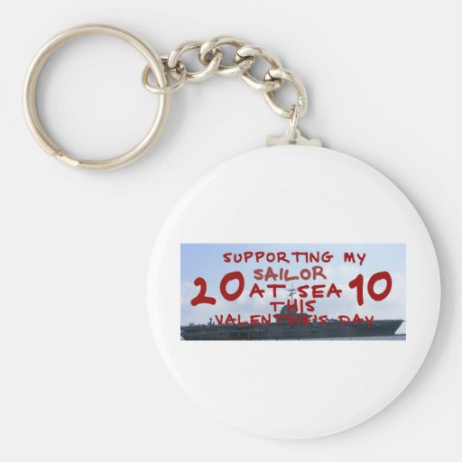 SUPPORTING SAILOR AT SEA VALENTINES DAY KEYCHAIN