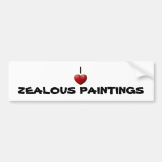 SUPPORTING ZEALOUS PAINTINGS CAR BUMPER STICKER
