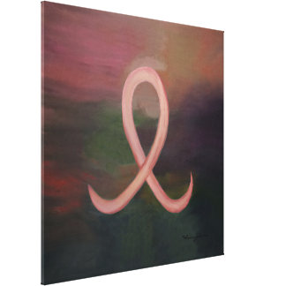 Supportive Abstract | Rustic Pink Breast Cancer Canvas Print
