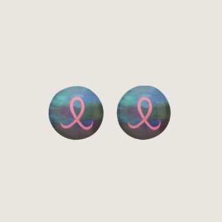 Supportive Bold Pink Breast Cancer Ribbon Earrings