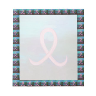 Supportive Bold Pink Breast Cancer Ribbon Notepad