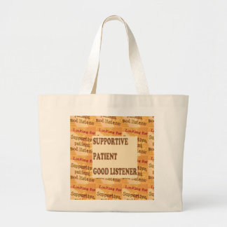 SUPPORTIVE PATIENT GOODLISTENER lowprice GIFTS Canvas Bag