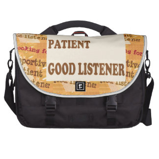 SUPPORTIVE PATIENT GOODLISTENER lowprice GIFTS Laptop Computer Bag