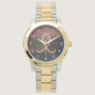 Supportive Rustic Breast Cancer Ribbon Wrist Watches