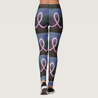Supportive Soft Pink Breast Cancer Ribbon Leggings