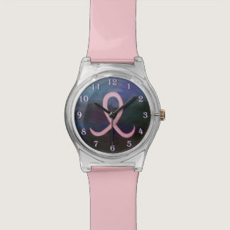 Supportive Soft Pink Breast Cancer Ribbon Wrist Watch