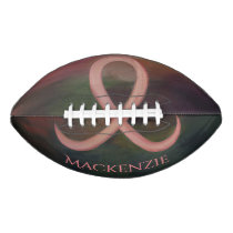 Supportive Sport | Rust Pink Breast Cancer w Name Football